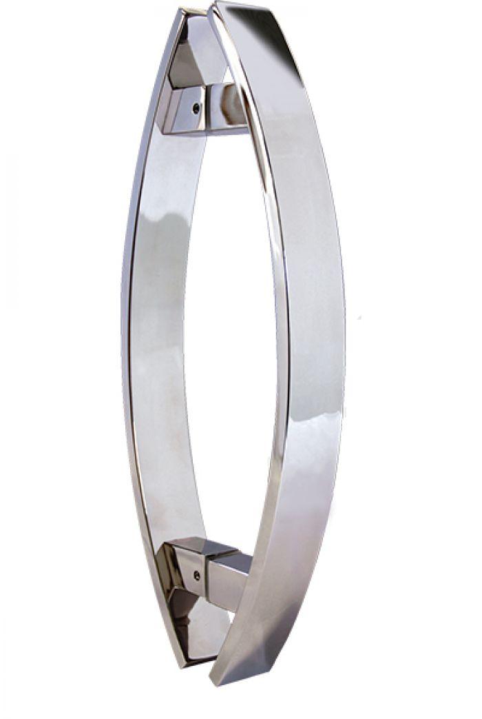 PAR DE PUXADOR INOX BLINDEX -  REF. 732 - 80 cm - CURVO POLIDO ou ESCOVADO - ENTREGA EM 15 DIAS
