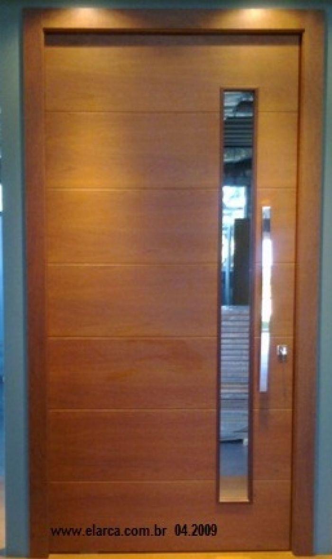 Porta pivotante externa lisa com espa o p vidro branca for Porta 1 20