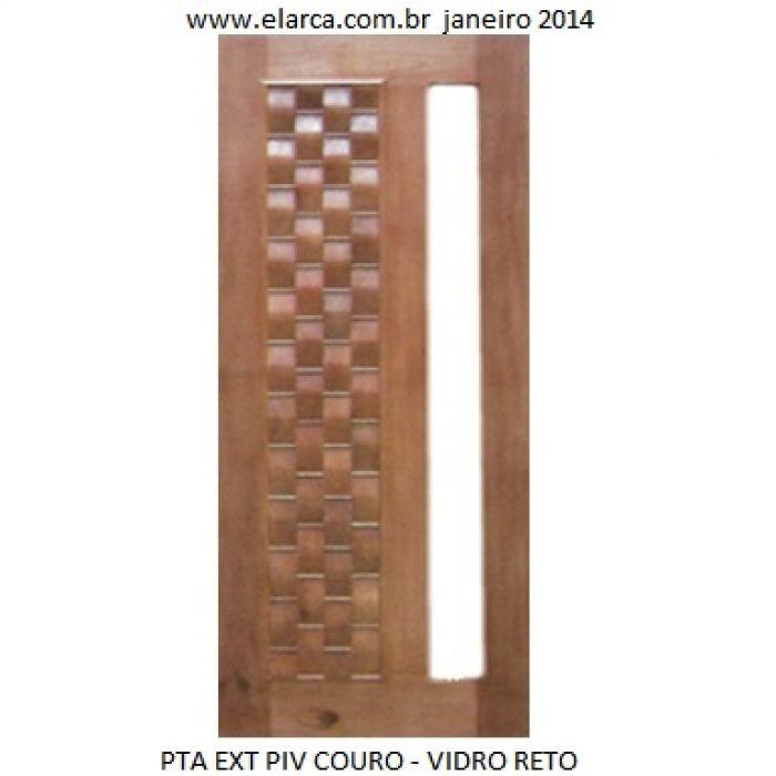 Porta Externa Pivotante Couro Abertura Para Vidros Combo