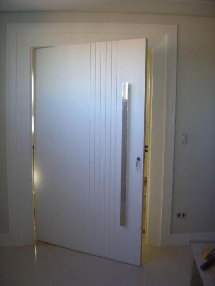 Porta pivotante rainha 80 x 210 kit porta externa maci a for Porta 1 20