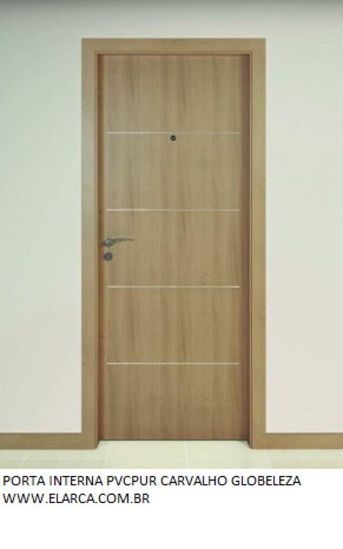 Porta interna lisa montada e com pintura final laca branca - Allargare porta interna ...